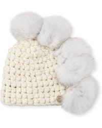 Mischa Lampert - Pohawk Wool Pompom Beanie Hat - Lyst