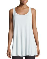 Eileen Fisher - Scoop-neck Stretch Silk Jersey Tunic - Lyst