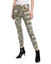 Etienne Marcel - Camo-print Zip Pocket Skinny Jeans - Lyst