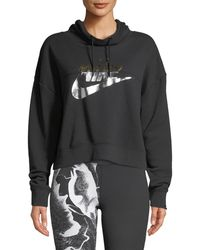 Nike - Rally Metallic-logo Hoodie - Lyst