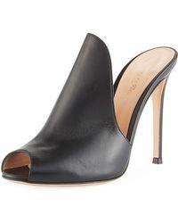 6e86a6ddba7 Lyst - Jimmy Choo Black Vamp Crisscross Platform Sandals in Black