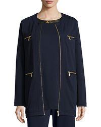 Joan Vass - Four-pocket Cotton Interlock Jacket - Lyst