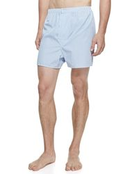 Derek Rose | James Fine-stripe Boxer Shorts | Lyst