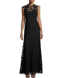 Shoshanna - Raven Sleeveless Guipure Lace Gown - Lyst