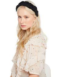 Jennifer Behr - Lorelei Silk Faille Braided Headband - Lyst
