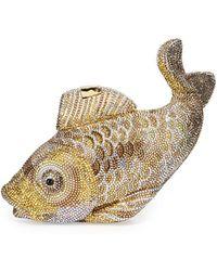 Judith Leiber - Koi Fish Crystal Minaudiere - Lyst