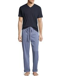 Neiman Marcus - Men's Two-piece Check Pajama Gift Set - Lyst
