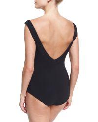 1475582141504 La Petite Robe Di Chiara Boni - Maudina Cutout Chest One-piece Swimsuit -  Lyst
