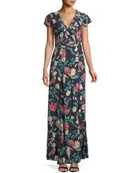 Lovers + Friends - Kayla Floral-print Wrap Maxi Dress - Lyst