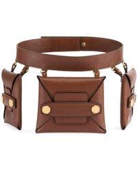 Stella McCartney - Faux-leather Trio Belt Bag - Lyst