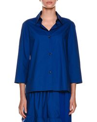 Marni | Collared Button-front Woven Blouse | Lyst