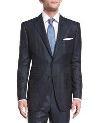 Tom Ford - O'connor Base Birdseye Pinstripe Wool Suit - Lyst