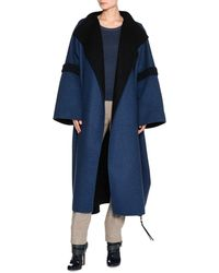 Agnona - Bicolor Double-face Cashmere Coat - Lyst
