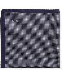 Eton of Sweden | Polka-dot Silk Pocket Square | Lyst
