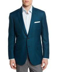 Brioni - Houndstooth Wool-blend Sport Coat Green - Lyst