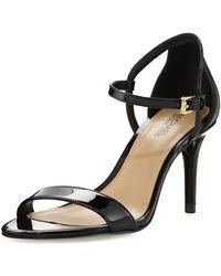3cdd174d127d Lyst - Michael Michael Kors Simone Patent Leather Sandals