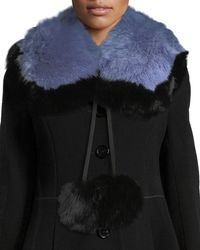 Charlotte Simone | Puffalump Fur Neck Scarf W/ Pompoms | Lyst