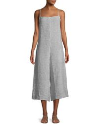Vitamin A - Stripe Linen Wide-leg Coverup Jumpsuit - Lyst