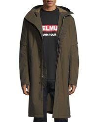 Helmut Lang - Flat-hood Zip-front Long Coat - Lyst