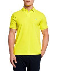 Ralph Lauren - Men's Logo-embroidered Polo Shirt Yellow - Lyst