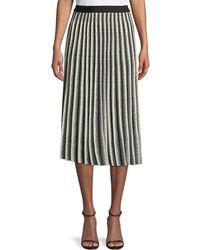 10 Crosby Derek Lam - A-line Pleated Striped Knit Midi Skirt - Lyst