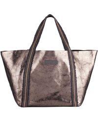 Brunello Cucinelli - Metallic Leather Monili-handle Tote Bag - Lyst