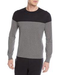 Z Zegna - Striped Silk-blend Sweater - Lyst