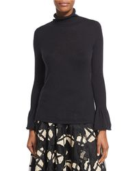 Co. - Cashmere Turtleneck Sweater With Bell Cuffs - Lyst