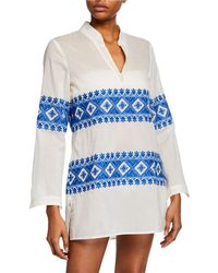 Tory Burch - Stephanie Embroidered Tunic Top - Lyst