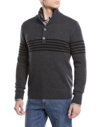 Neiman Marcus - Men's Horizontal Striped Cashmere Sweater - Lyst