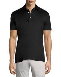 Kiton - Solid Cotton Polo Shirt - Lyst