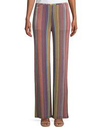 Trina Turk - Penelope Daybreak Stripe-knit Wide-leg Pants - Lyst