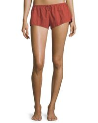 Xirena - Shaya Cotton Lounge Shorts - Lyst
