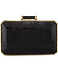 Judith Leiber - Soho Snakeskin Box Clutch Bag - Lyst