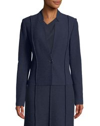 St. John - Ana Boucle Knit Seamed Blazer Jacket - Lyst