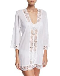 La Blanca | Embroidered-inset Tunic Coverup | Lyst