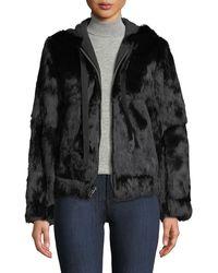 Robert Rodriguez - Hooded Zip-front Fur Jacket - Lyst