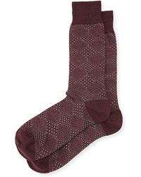 Neiman Marcus - Pin-dot Diamond Wool Socks - Lyst
