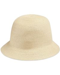 996cec4eed237 Lyst - Gucci Straw Effect Woven Lurex Hat in Metallic