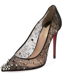 08a0cc8c060d Anjalina Pointy Toe Pump.  845. Nordstrom · Christian Louboutin - Decollete  554 Spiked Lace Red Sole Pumps - Lyst