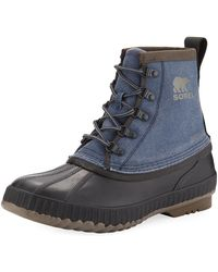 Sorel - Cheyanne Ii Canvas Lace-up Duck Boot - Lyst