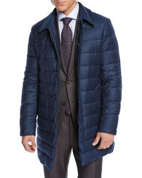 Canali - Men's Long Down Quilted Coat - Lyst