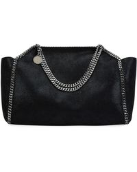 5f6c1635f39 Lyst - Stella McCartney Falabella Shaggy Deer Small Tote Bag in Black