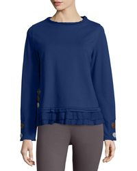 Neon Buddha - Seaside Cape Cotton-Blend Pullover Top - Lyst