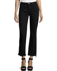 M.i.h Jeans - Lou Flare-leg Cropped Jeans - Lyst
