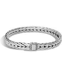 John Hardy - Men's Small Classic Chain Sterling Silver Cuff Bracelet - Lyst