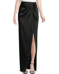 99a1cd375 St. John Duchesse Origami Ruffle Gown Skirt in Black - Lyst