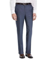 Brioni - Phi Flat-front Wool/mohair Trousers - Lyst