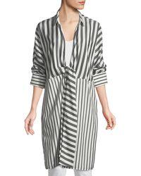 Lafayette 148 New York - Rowlan Showcase Stripe Silk Duster Jacket - Lyst