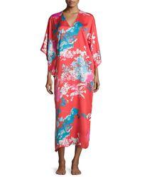 Natori | Chianti Floral-print Lounge Caftan | Lyst